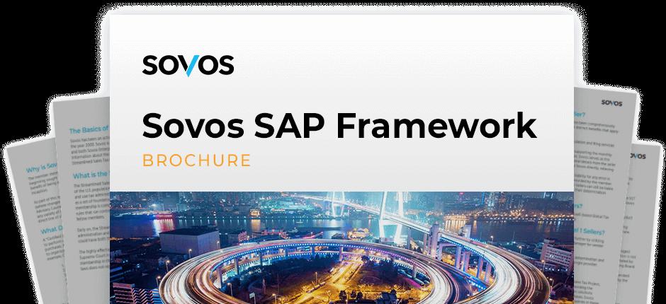 Cover Brochure Sovos SAP Framework