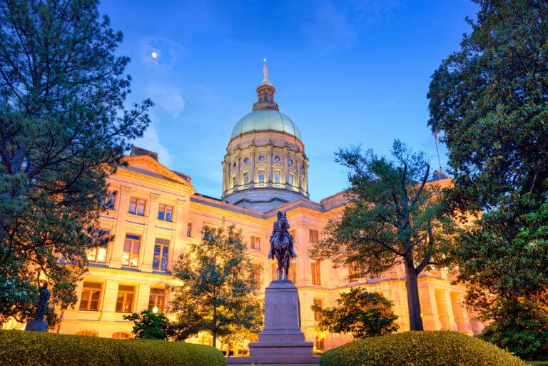 State Capitol Building in Atlanta, Georgia, USA.