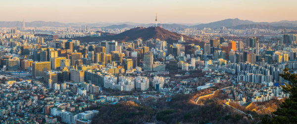 Seoul-sunset-crowded-skyscraper