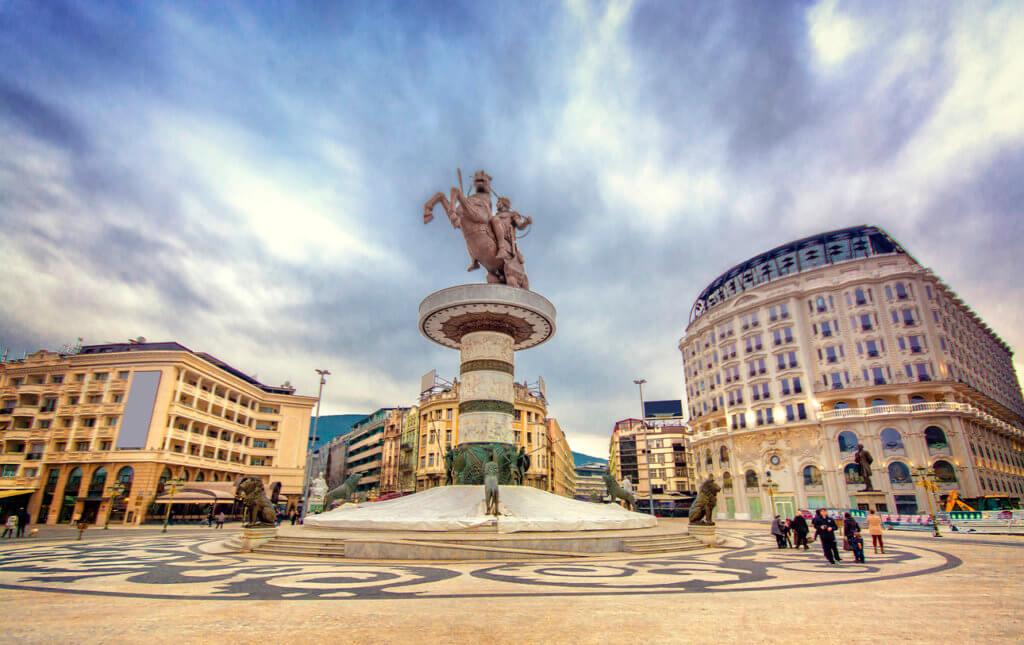Alexander statue in Skopje center